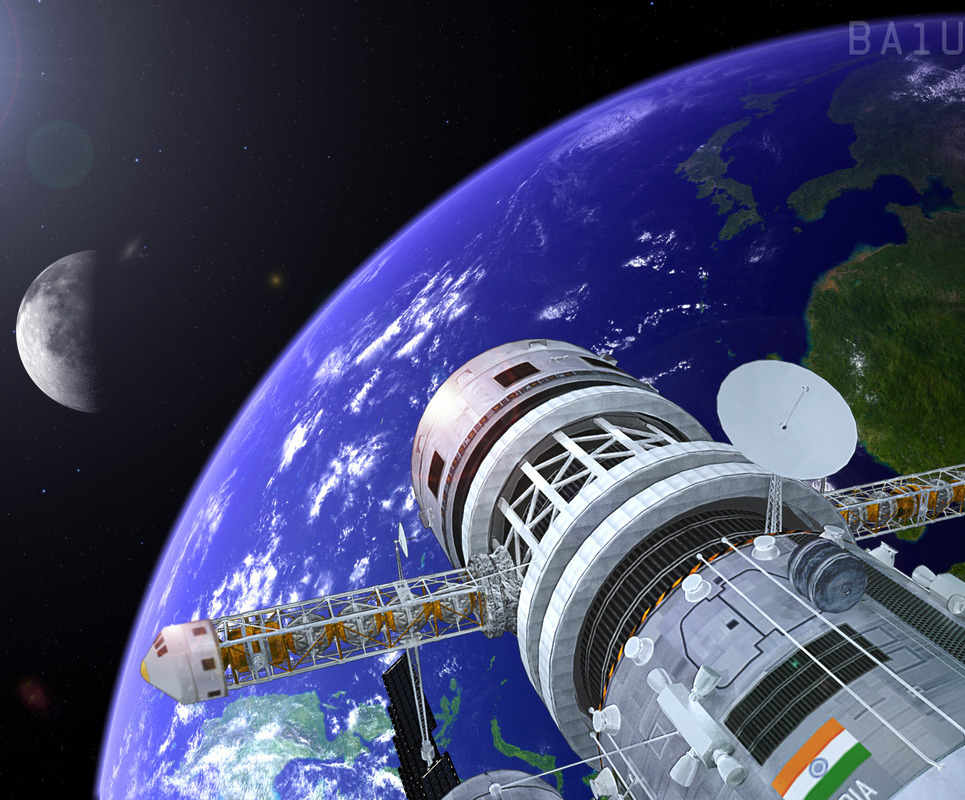 Earth satellite show