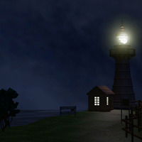 Lighthouse night copy cover