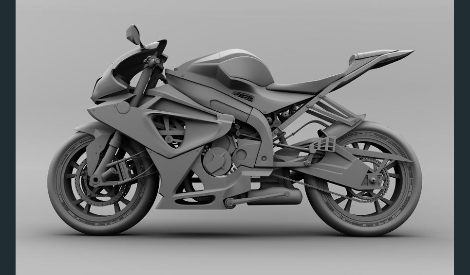 Colin kaszynski bmw sr 1000 bike maya model show