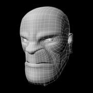 Hulk face mesh copy small
