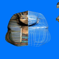 Tutankhamun death mask cover