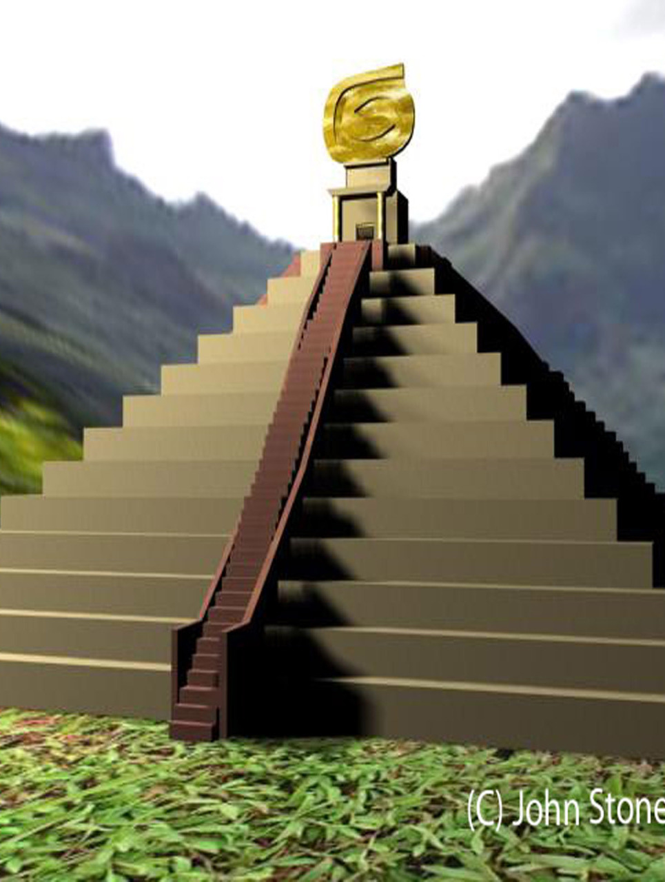 Aztec temple show