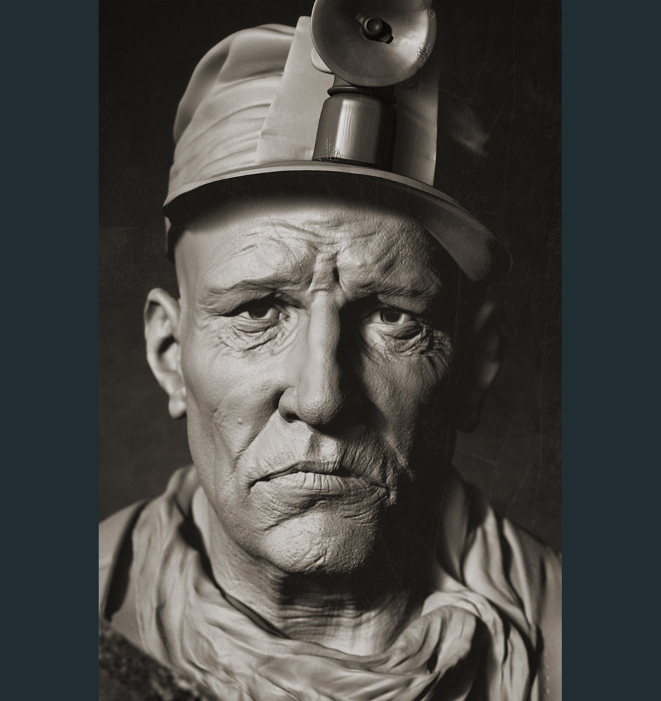 Rudymassar portrait of a miner show