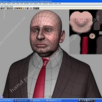 Fat businessmen uv mapping  cover