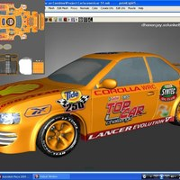 Sport car uv mapping cover