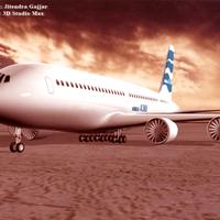 Airbus plane standing on aerodrum cover