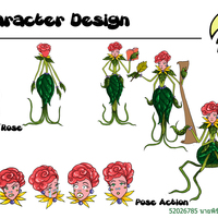 Character design rose cover