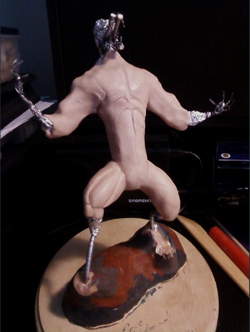 Werewolf maquette   adding body filler show