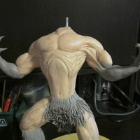 Werewolf maquette   more definition claws completed cover
