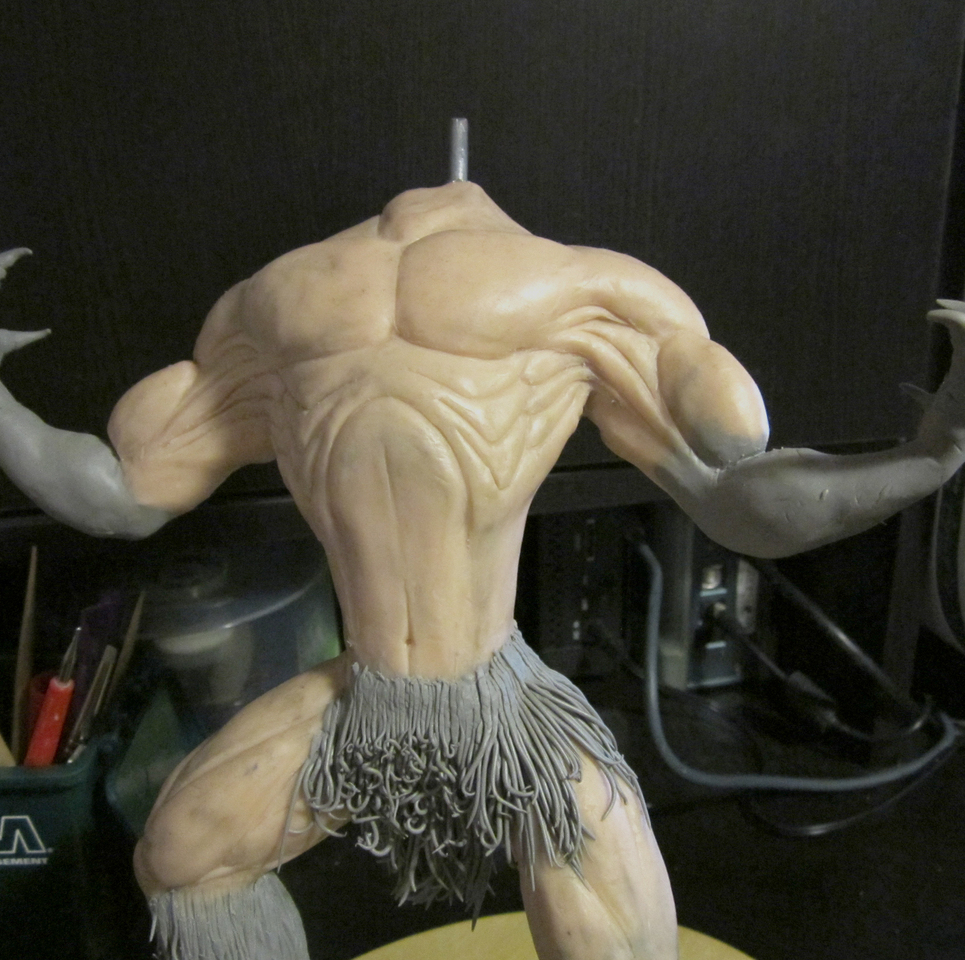 Werewolf maquette   more definition claws completed show