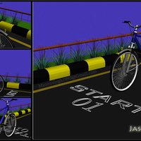 Cycle in road cover