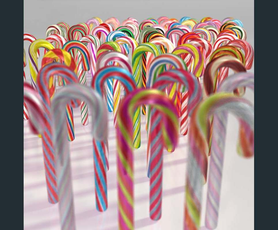Candy canes show