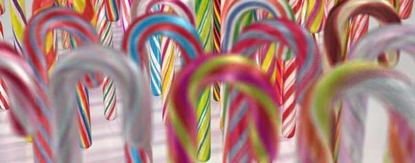 Candy canes wide