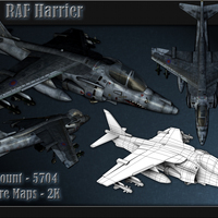 Low poly harrier cover