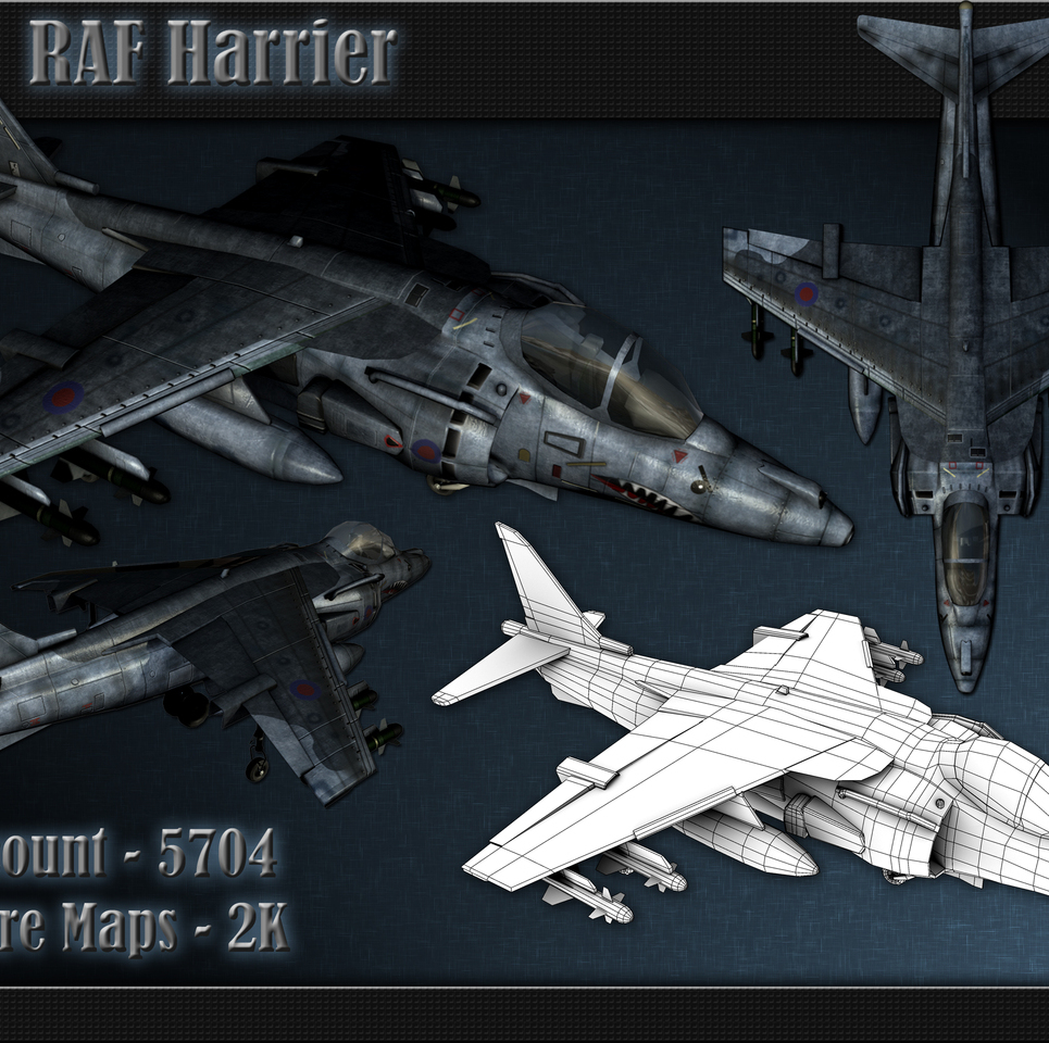 Low poly harrier show