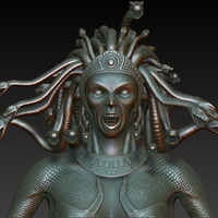 Medusa close highpoly cover