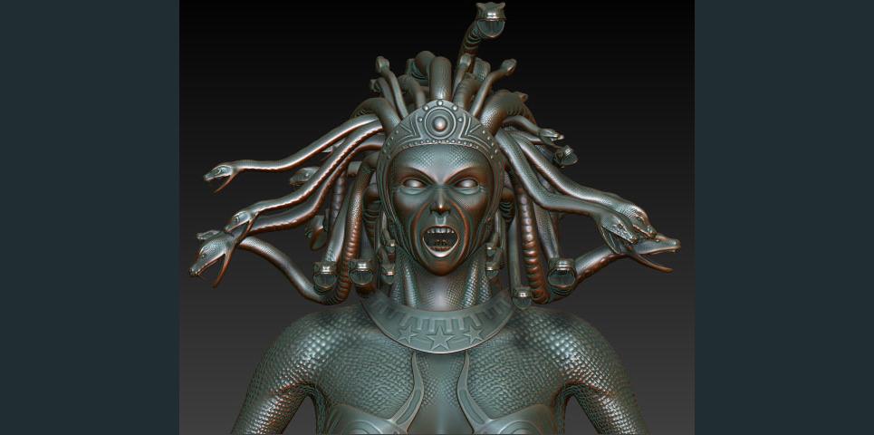 Medusa close highpoly show