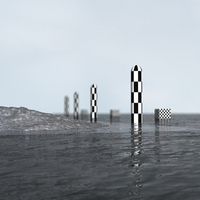 Flat sea with dof by ffp cover