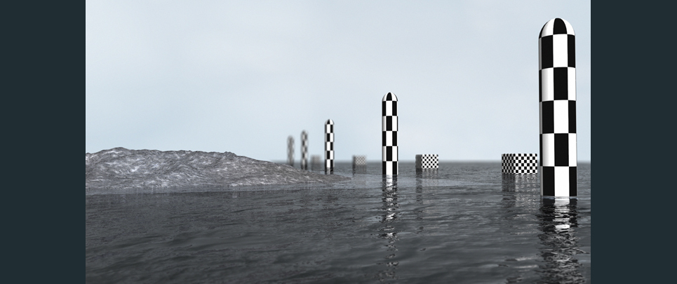 Flat sea with dof by ffp show