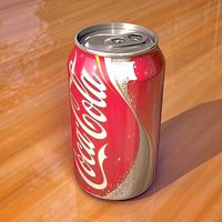 Coke can 355 ml render c4d cover