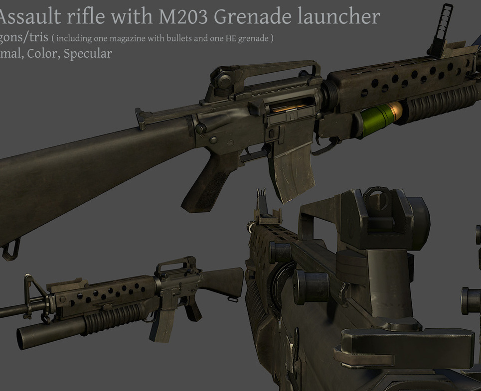 M16a3m203 display show