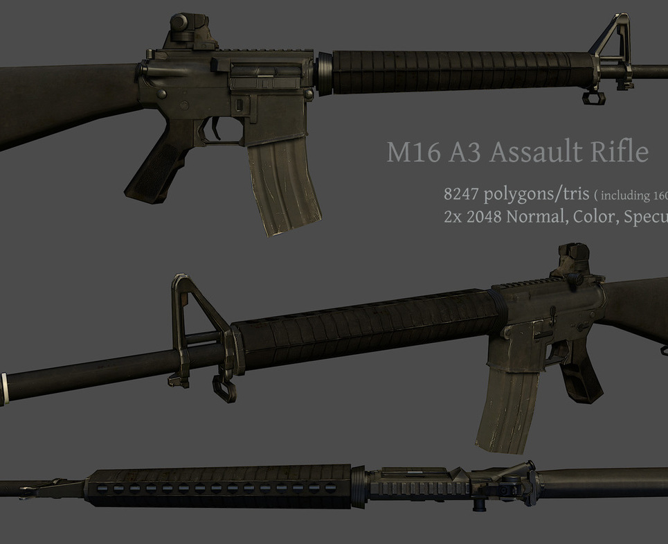 M16a3 display show
