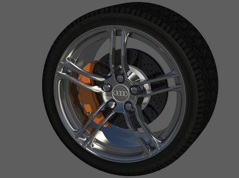 Audi r8 wheel rim  show