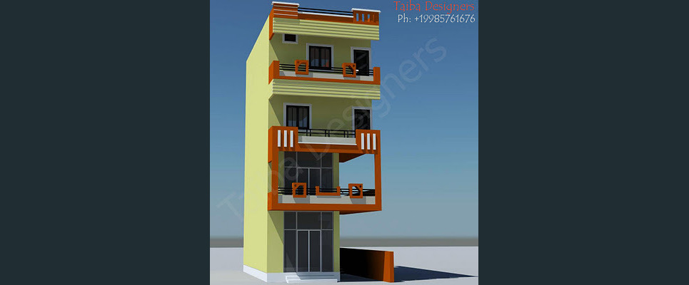 Commercial and residential elevation show