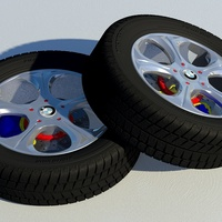 Bmw dual leaning wheels cover