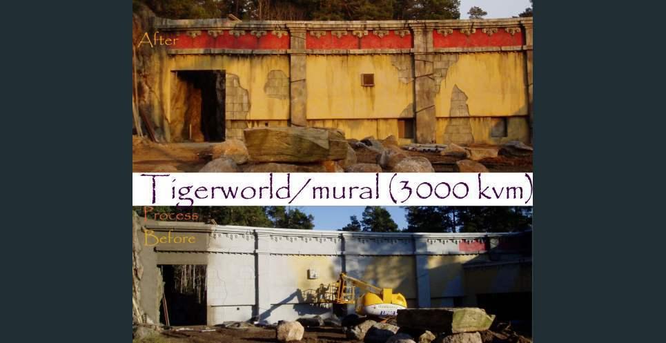 Tigerworld mural show