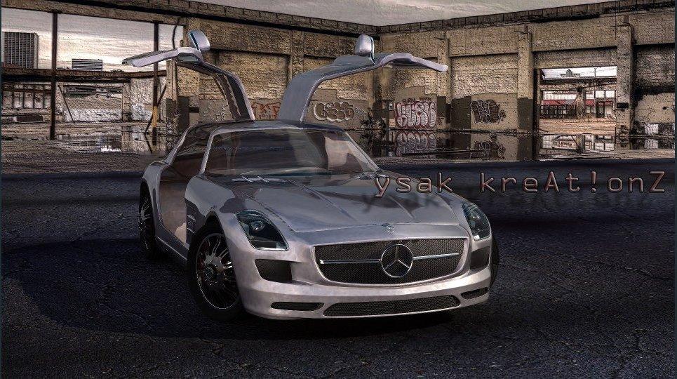 Mercedes benz sls amg show