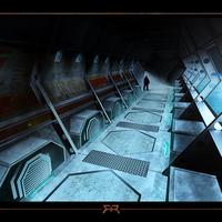 Speedpaint   sci fi corridor   fb cover