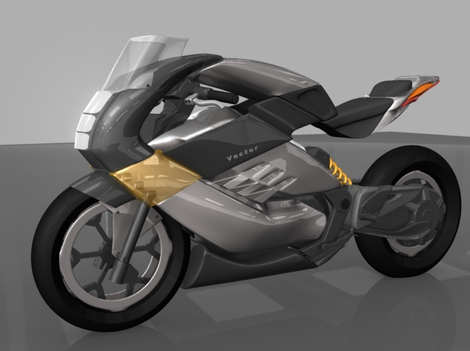 New render bike show