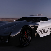 Corvette stingray morning desert cover