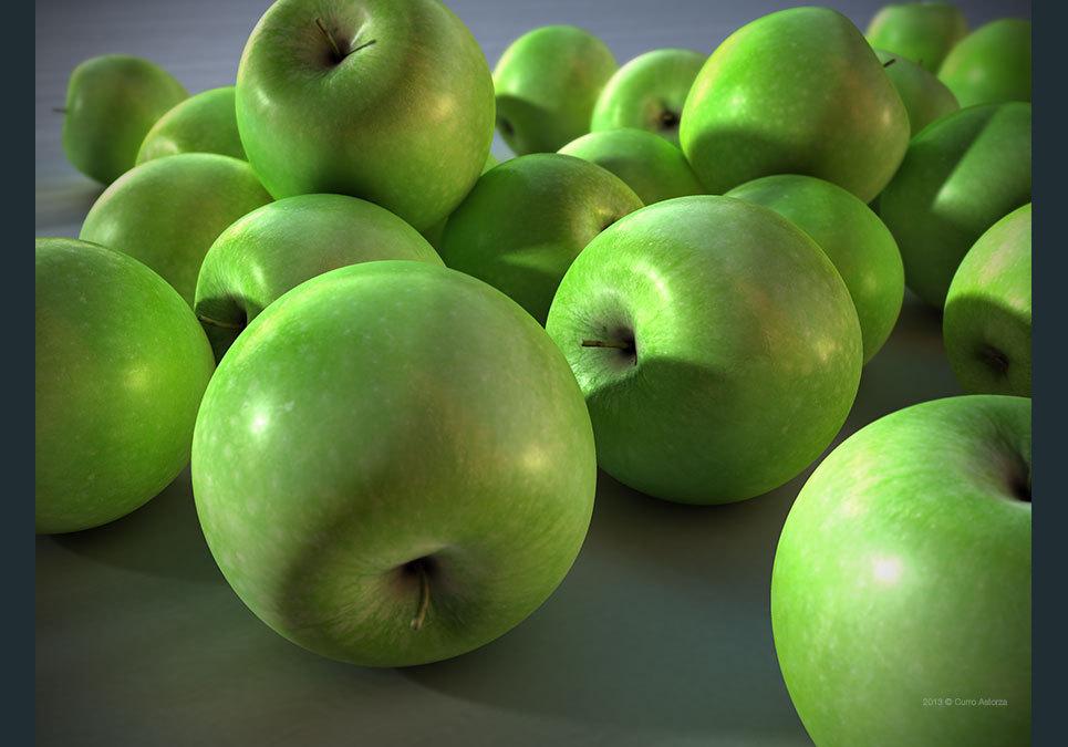 Astorza 3d cgi barcelona apples show
