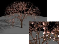 Free Flowering Quince Brush for Maya 3.0