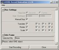 Free kWORk Rec Animation for Maya 1.2.8 (maya script)