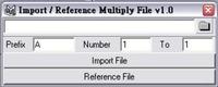 Free importMultiFile for Maya 1.1.0 (maya script)
