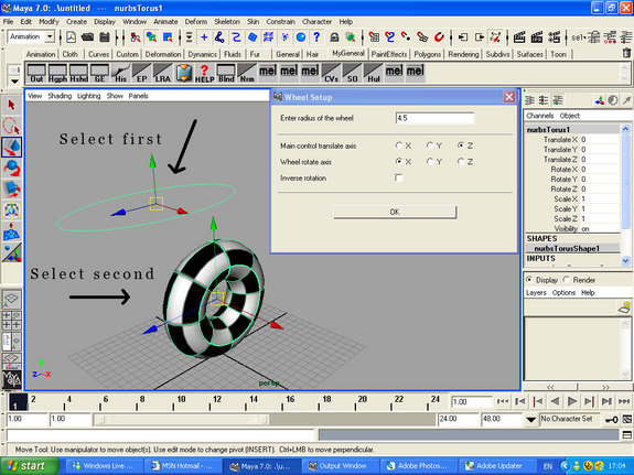 Auto Wheel Spin Setup for Maya