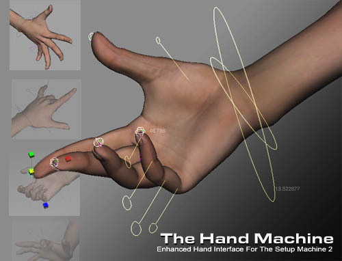 The Hand Machine for Maya - Free Character Scripts / Plugins