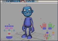 "Free Generi ""Blue guy"" rig for Maya 1.1.0"