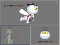 facePanel.mel 0.0.1 for Maya (maya script)