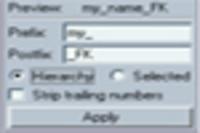 Prefix Postfix Name 1.0.0 for Maya (maya script)