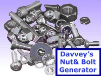 Free Davveys Nut and Bolt Generator for Maya 1.5.0 (maya script)