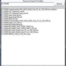 Recursive Search for Maya 1.0.3 (maya script)