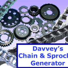 Davveys Chain & Sprocket Generator for Maya 1.1.0 (maya script)