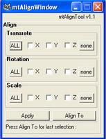 Align_Tool 1.1.0 for Maya (maya script)
