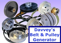 Free Davveys Belt  & Pulley Generator for Maya 1.0.1 (maya script)