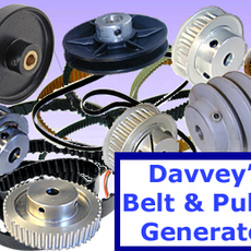 Davveys Belt  & Pulley Generator for Maya 1.0.1 (maya script)