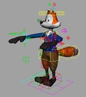 Free Fox Animation Rig 1.0.2 for Maya